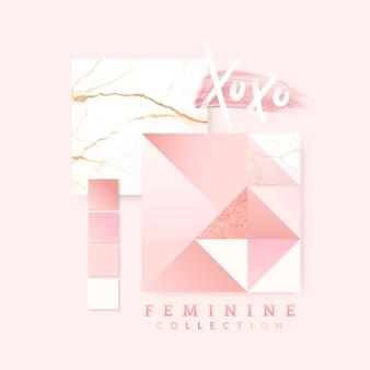 Diseño femenino color rosa.