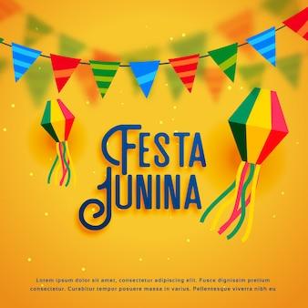 Diseño de festa junina amarillo