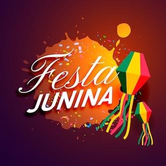 Diseño de festa junina con salpicadura