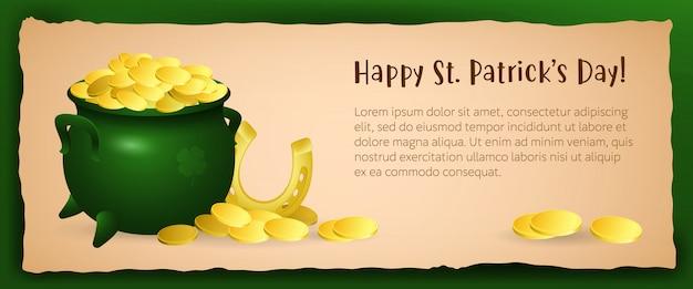 Diseño festivo del cartel del día de san patricio feliz