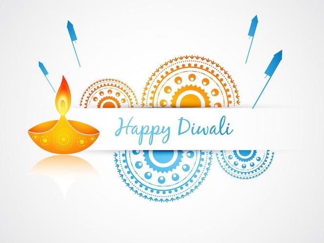 Diseño festivo de vela para diwali