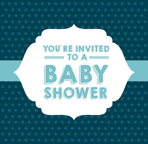 Diseño de la fiesta de bienvenida al bebé, gráfico de vector ilustración eps10