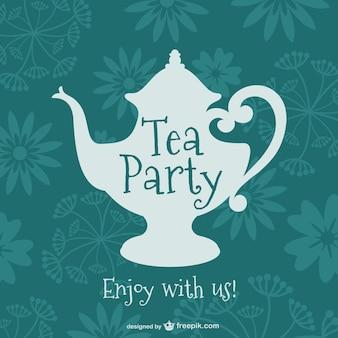 Diseño de fiesta de té vintage