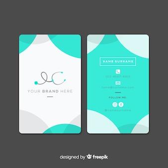 Diseño flat de tarjeta de visita médica
