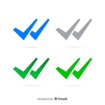 Diseño de la flecha doble de whatsapp