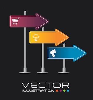 Diseño de flechas ilustración vectorial