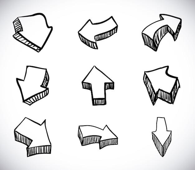 Diseño de flechas sobre fondo blanco ilustración vectorial