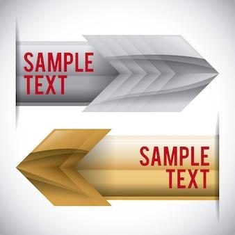 Diseño de flechas sobre fondo gris ilustración vectorial