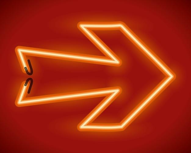 Diseño de flechas sobre fondo rojo ilustración vectorial