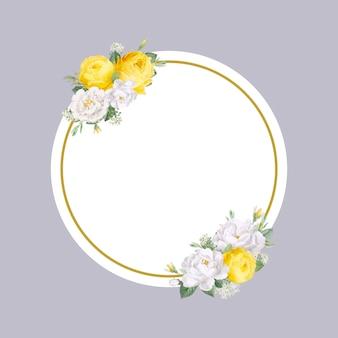 Diseño floral boda invitación maqueta