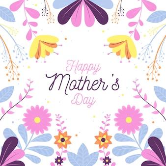 Diseño floral del día de la madre