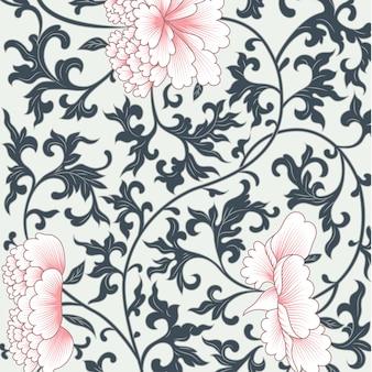 Diseño floral en estilo chino.