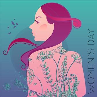 Diseño floral para el evento del día de la mujer.