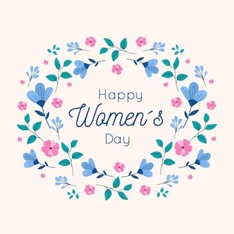 Diseño floral de feliz día de la mujer
