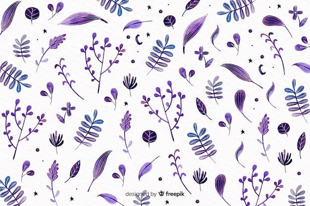 Diseño floral monocromo acuarela