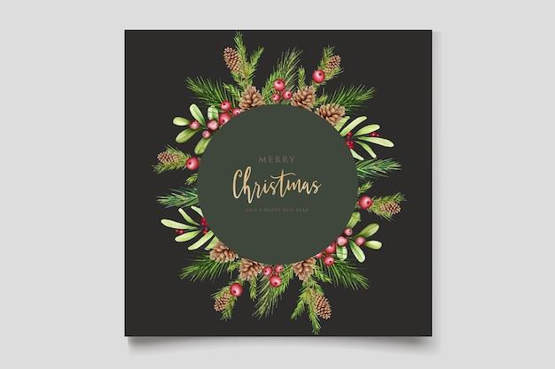 Diseño floral de navidad dibujado a mano