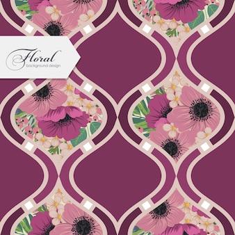 Diseño floral patrón sin costuras