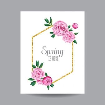 Diseño floral de primavera y verano.