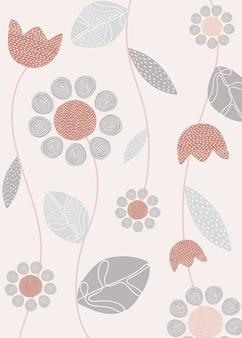 Diseño floral simple