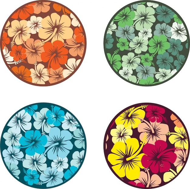 Diseño de flores de hibisco