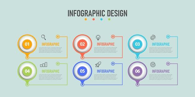 Diseño de flujo de trabajo de plantilla de gráficos de información empresarial