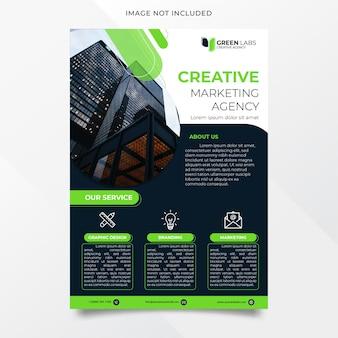 Diseño de flyer de agencia creativa elegante y moderno