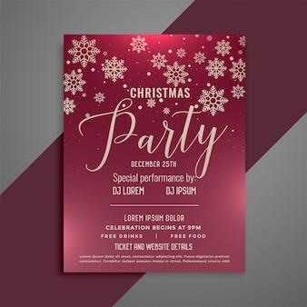 Diseño de flyer de celebración de la feliz navidad