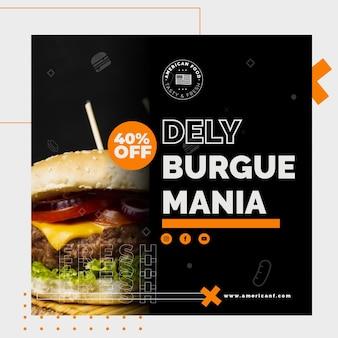 Diseño de flyer de comida americana