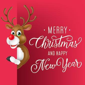 Diseño de flyer de navidad y año nuevo.