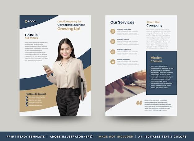 Diseño de flyer de negocios corporativos