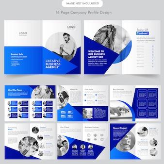 Diseño de folleto de 16 páginas de negocios