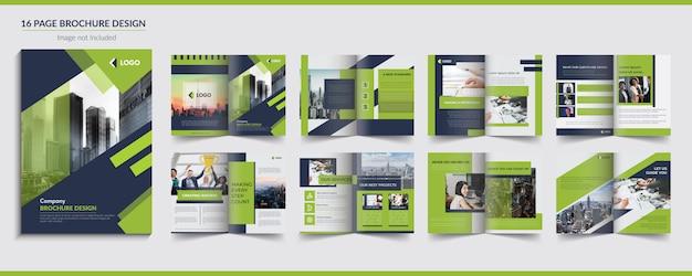 Diseño de folleto de 16 páginas