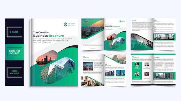 Diseño de folleto de 8 páginas