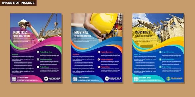 Diseño de folleto abstracto