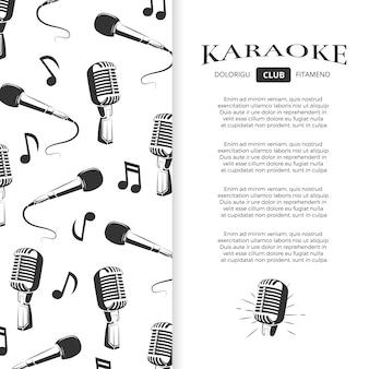 Diseño de folleto de club karaoke