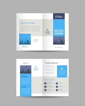 Diseño de folleto comercial doble