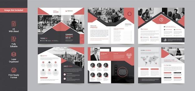 Diseño de folleto comercial o plantilla de diseño de perfil de empresa