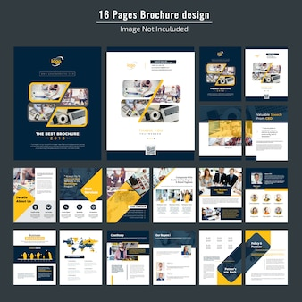 Diseño de folleto corporativo de 16 páginas