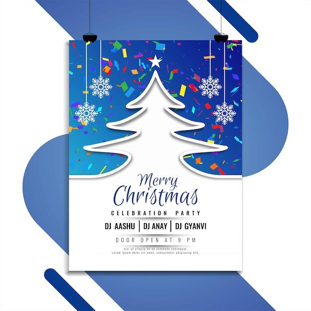 Diseño de folleto elegante feliz navidad