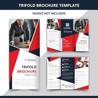 Diseño de folleto de empresa corporativa