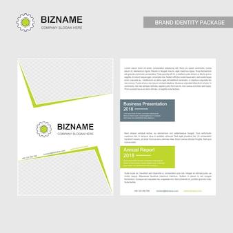 Diseño de folleto de la empresa