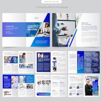 Diseño del folleto de la empresa