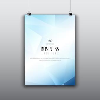 Diseño de folleto moderno con diseño de baja poli