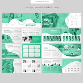 Diseño de folleto de negocio de paisaje