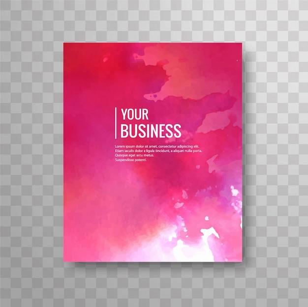 Diseño de folleto de negocios de acuarela