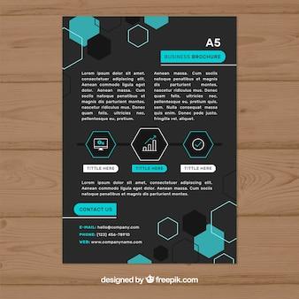 Diseño de folleto de negocios negro