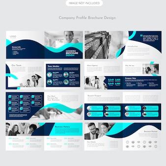 Diseño de folleto de paisaje
