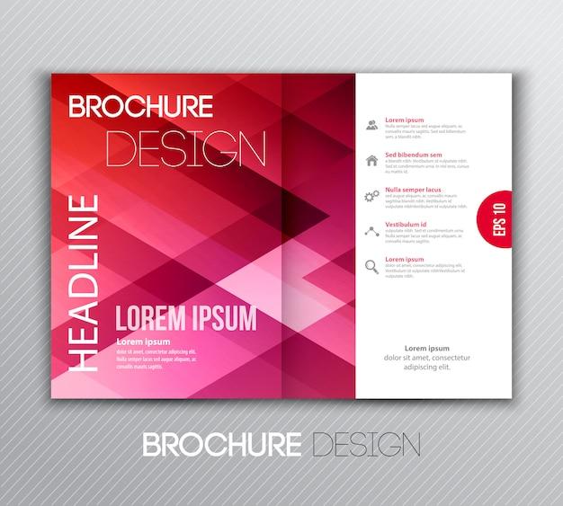 Diseño de folleto de plantilla abstracta con fondo geométrico