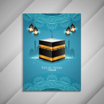 Diseño de folleto religioso de eid al adha mubarak