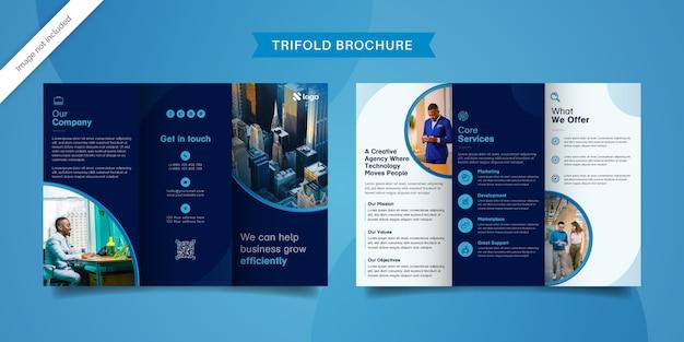 Diseño de folleto tríptico empresarial